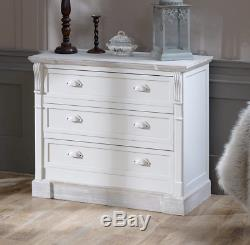 Shabby Chic Chest Drawers Vintage French Furniture Small Storage White Sideboard