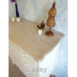 Shabby Chic Devon Chest of 5 Drawers French Style Vintage Distressed Cream