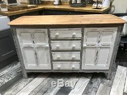 Shabby Chic Ercol Sideboard In Annie Sloan French Linen And Old White