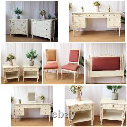 Shabby Chic French Style Cream Gold Dressing Table Bedroom Furniture