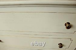Shabby Chic French Style Cream Gold Near Pair Chest Of Drawers Bedroom Furniture