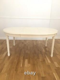 Shabby Chic French White Cream Extending Dining Table Used RRP £799 (see pics)