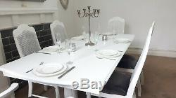Shabby chic extending dining table and chairs French Farmhouse kitchen