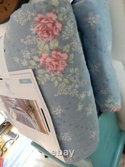 Simply Shabby Chic Chambray Lily Rose King Quilt New Nwt French Farmhouse
