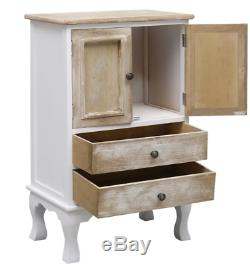 Small French Cabinet Vintage Side Table Shabby Chic Storage Drawer Cupboard Unit