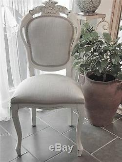 Small Shabby Chic French Style Dining Table and 4 Dining Chairs