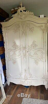 Stunning Carved French Armoire Shabby Chic Style Large Barker &Stonehouse NOT