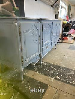 Stunning French Antique Solid Oak Large Sideboard Shabby Chic FreeLocal Delivery