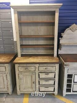 T31 French shabby chic Freestanding Kitchen Butlers Sink + Larder & Cupboards