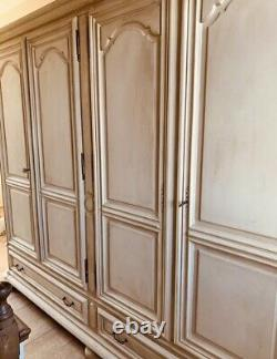 Very Grand Vintage French Style 4 Door Wardrobe/Armoire Shabby Chic