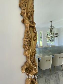 Very Large Gold Gilt French Shabby Chic Ornate Mirror