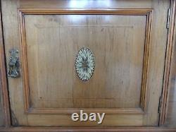 Victorian Antique WALNUT INLAID French Shabby Chic Marble WASH STAND Drawers