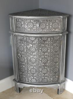Vintage Corner Cabinet Shabby Chic Storage Antique French Cupboard Bedside Table