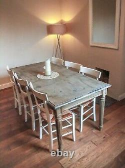 Vintage Dining Table French Chic Large