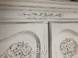 Vintage French Armoire/5 Door French Wardrobe / Painted Shabby chic style