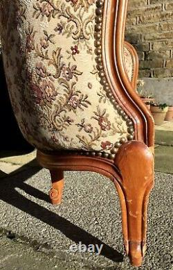Vintage French Demi Corbeille Double Bed Frame 140cmx190cm Country Shabby Chic