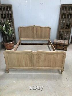 Vintage French Double bed/ Sandblasted French bed shabby chic style