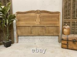 Vintage French Headboard/ French bed / Sandblasted Shabby chic style