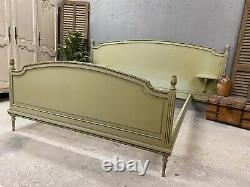 Vintage French King size bed/ Original Painted bed shabby chic style
