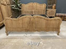 Vintage French King size bed/ Sandblasted French bed shabby chic style