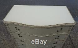 Vintage French Lois Style Shabby Chic 5 Drawer Chest Delivery Available
