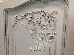 Vintage French Wardrobe/4 Door French Armoire / Painted Shabby chic style