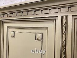 Vintage French Wardrobe / 5 Door Armoire/ Original Painted Shabby chic style
