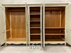 Vintage French Wardrobe/ 5 Door French Armoire / Painted Shabby chic style