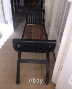 Vintage Hallway Bench Shabby Chic Furniture French Style Bedroom Window Seat
