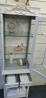 Vintage Painted French Linen/Display Cabinet CAN ARRANGE COURIER Shabby Chic