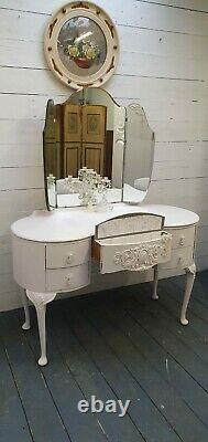 Vintage Painted French Style Dressing Table Shabby Chic CAN ARRANGE COURIER