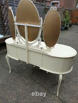Vintage Shabby Chic French Louis Style Dressing Table With Stool We Can Deliver