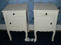 Vintage Shabby Chic French Style Bedside Cabinets