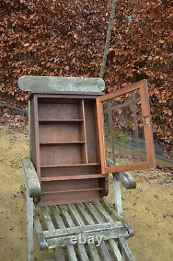 Vintage XL French Medicine Apothecary Bathroom Kitchen Wall Cabinet Shabby Chic