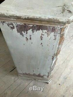 Vintage ornate French style shape shabby chic chest of drawers drop ring handles