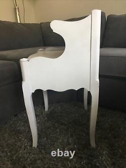 Vtg French Provincial 2 Tier Davis Cabinet, Co Beech Wood Night Stand End Table