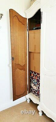 White Rococo French Large Vintage Antique Shabby Chic Armoire Wooden Wardrobe