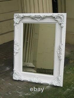 White Shabby Chic Large French Floor Statement Leaner Dress Wall Mirror 6ft