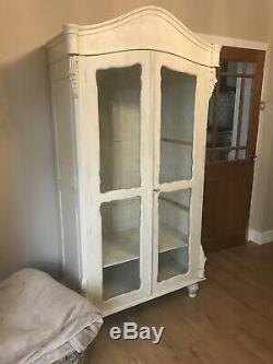 White french armoire shabby chic style wardrobe/display Unit